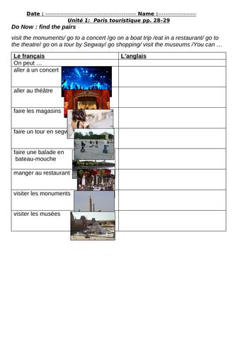 Studio 2 Module 2 Unité 1:  Paris touristique