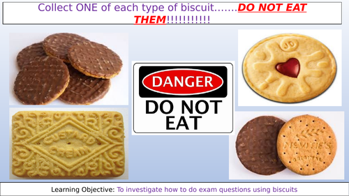 AQA Exam Question Biscuits