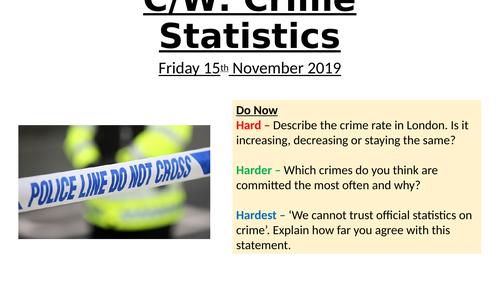 AQA A Level - Police Recorded Crime Statistics