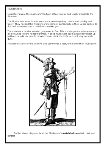 English Civil War Lesson Four: Soldiers