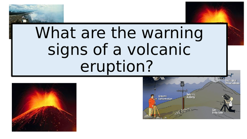 Warning signs of volcanic eruptions