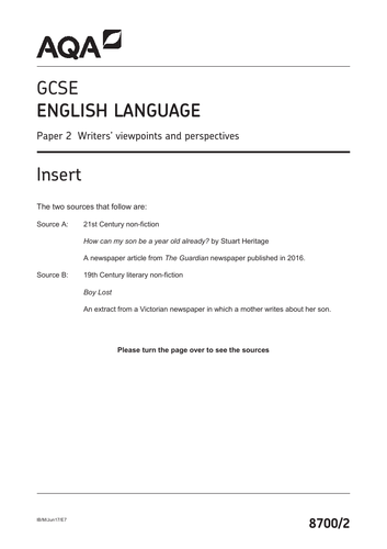 GCSE English Language (AQA) Exam Revision: Paper 2 Guide on how to answer Questions 2-4