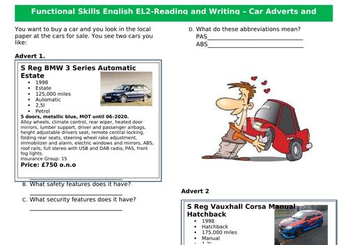 Functional Skills English EL2-3 - Writing and Comprehension