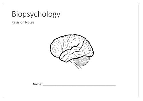 Biopsychology mind map booklet