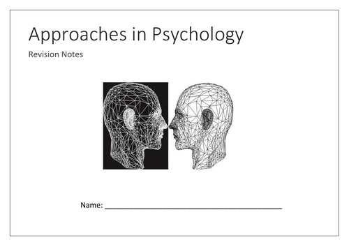 Approaches mind map booklet