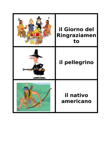 Thanksgiving in Italian Concentration Games
