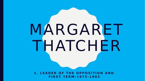 Biography of Margaret Thatcher powerpoints: for Edexcel Politics Paper 2; case studies