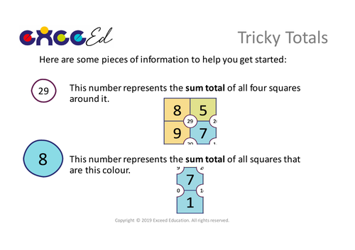 Tricky Totals: Problem Solving 'Start the Day' (Free)