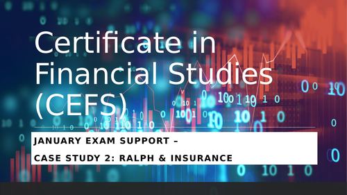 Certificate in Financial Studies - January 2020 Unit 1 Exam Support
