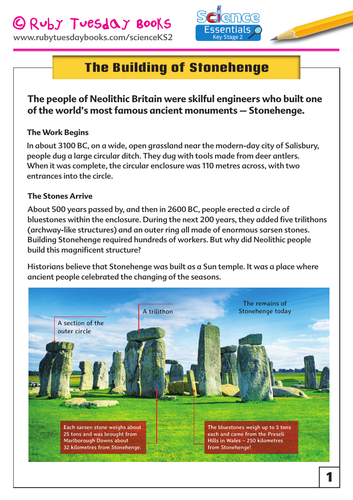 The Building of Stonehenge Information Sheet