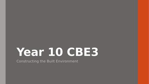 Constructing the Built Environment Unit 3 WJEC