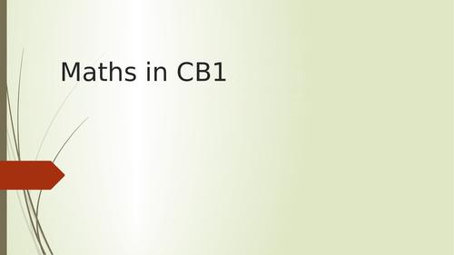 Maths in CB1