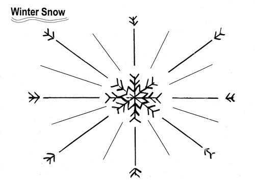 Snowflake Picture Poem