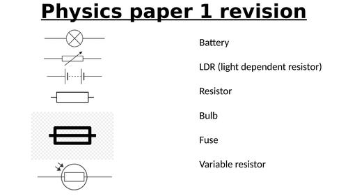 AQA Trilogy Physics Paper 1 Revision Lesson