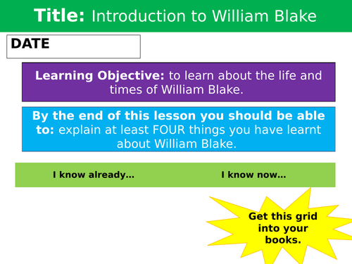 Introduction to William Blake - William Blake Background Context Lessons