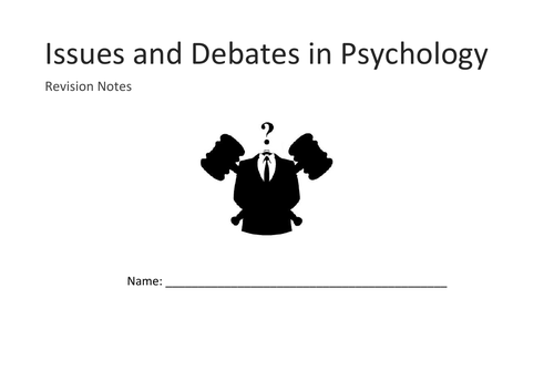 Issues and Debates mind map booklet