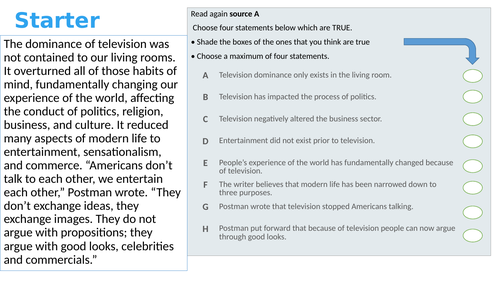 20 AQA English Language Paper 2 Q1s