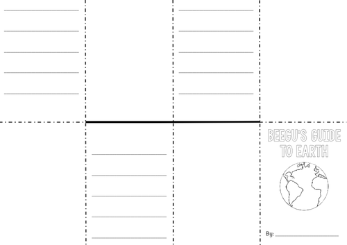 Year 1 Beegu Worksheets on Inference and Prediction