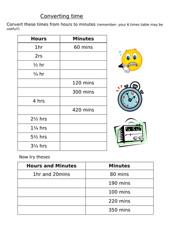 Maths - KS2 Convert measures of time