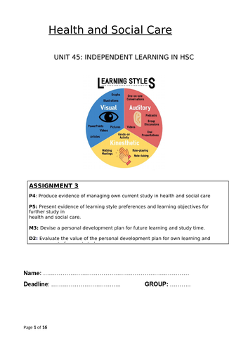 Unit 45: Learning Styles