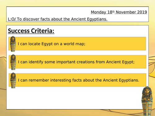 Introduction to Ancient Egypt KS2