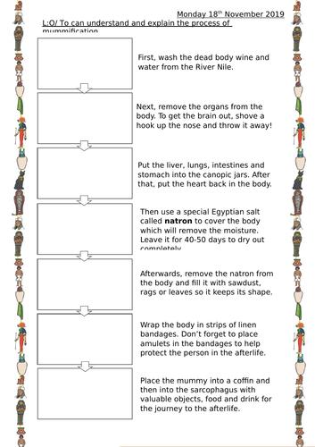 Ancient Egypt - Mummification Lesson (Year 3/4)