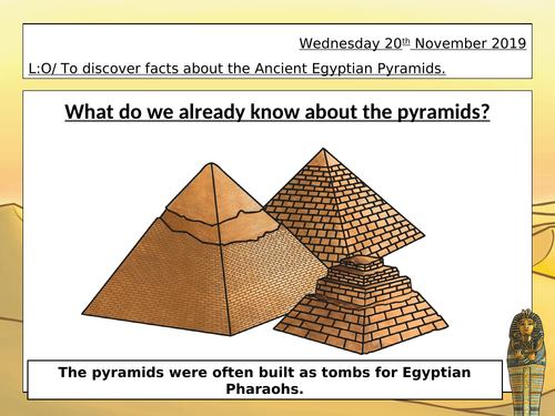 Ancient Egyptian DT Pyramid Brick Lesson (Year 3/4)