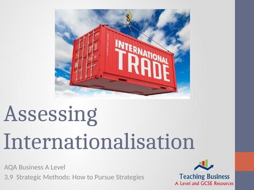 AQA Business - Assessing Internationalisation