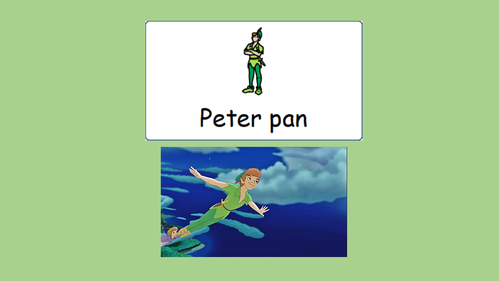 Peter Pan story with symbols for SEN