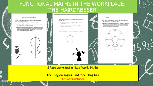 Functional Maths in the Workplace: The Hairdressers and Cutting Angles