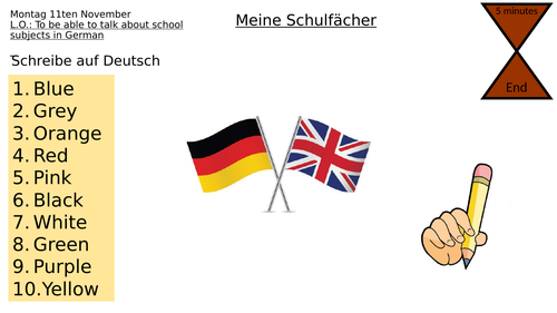 School subjects German