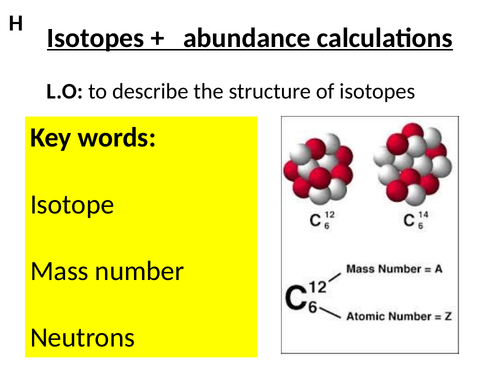 Edexcel Chemistry  isotopes and isotope calculations
