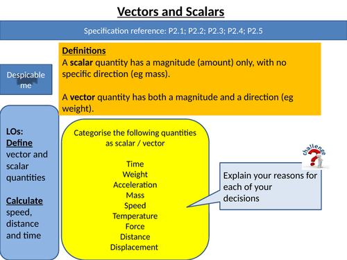 CP1a Vectors and Scalars 9-1  GCSE  EdExcel Science