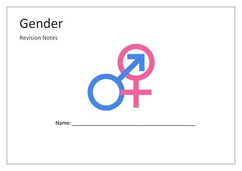 Gender mind map booklet