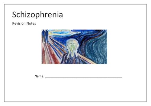 Schizophrenia mind map booklet