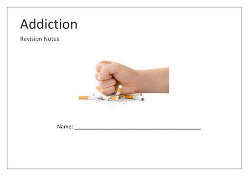 Addiction mind map booklet