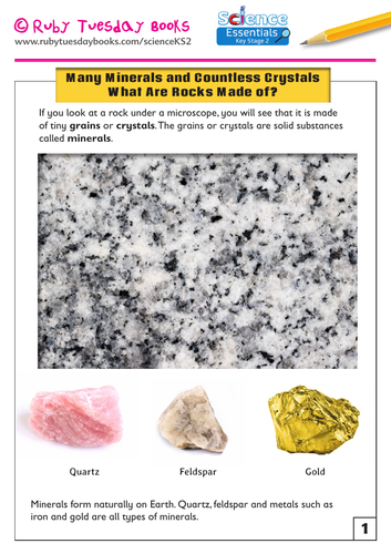 Many Minerals and Countless Crystals! What Are Rocks Made Of?