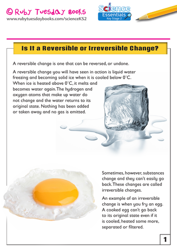 Is it a Reversible or an Irreversible Change?