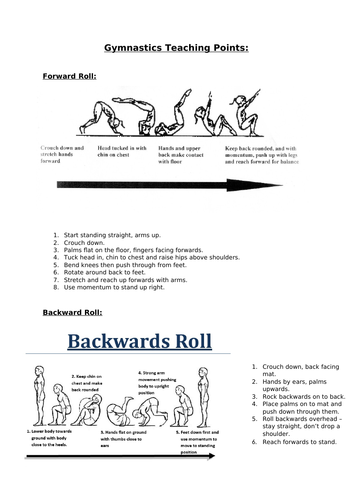 Gymnastics - Rotation Teaching Points