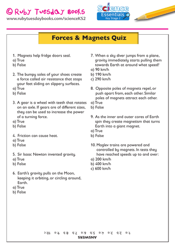 Forces and Magnets - Quiz