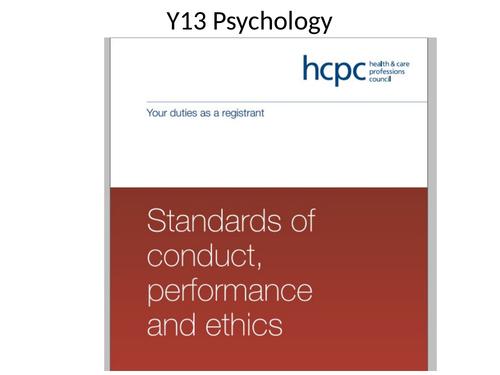 HCPC Guidelines Edexcel IAL Psychology