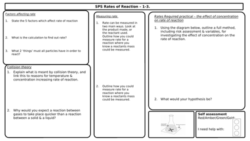 Rates of Reaction Revision