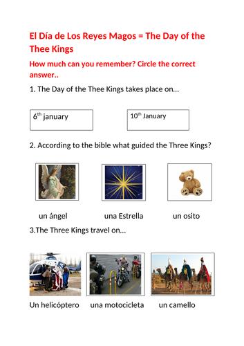 Quiz about El Día de Los Reyes Magos ( The Day of the Thee Kings) in Spain