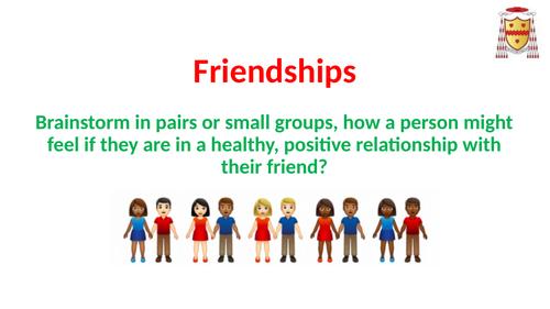 PSHCE: Friendships