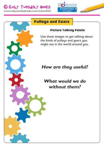 Pulleys and Gears: Picture Talking Points