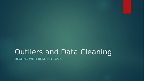 Outliers and Data Cleansing