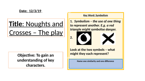 Noughts and Crosses The Play - 10 lessons