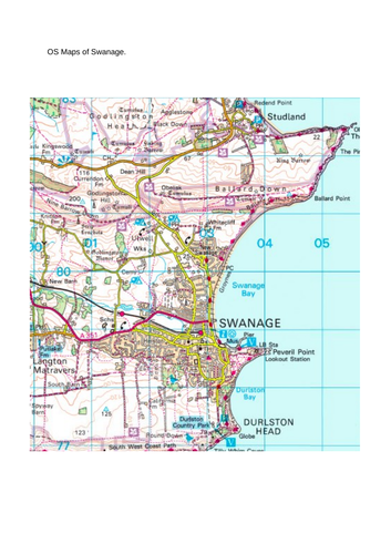 Swanage OS Map Skills Activity