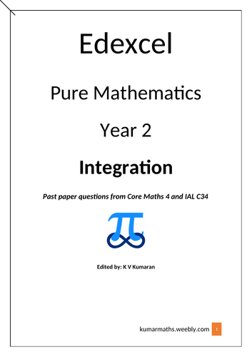 Pearson Edexcel  GCE Mathematics Year 2 Integration Past Paper Questions