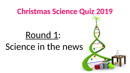 Science Christmas Quiz 2019